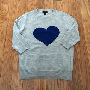 J. CREW 💙 Heart Sweater